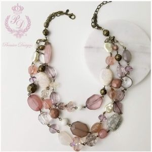 NWT Desert Rose Necklace Set by Premier Designs